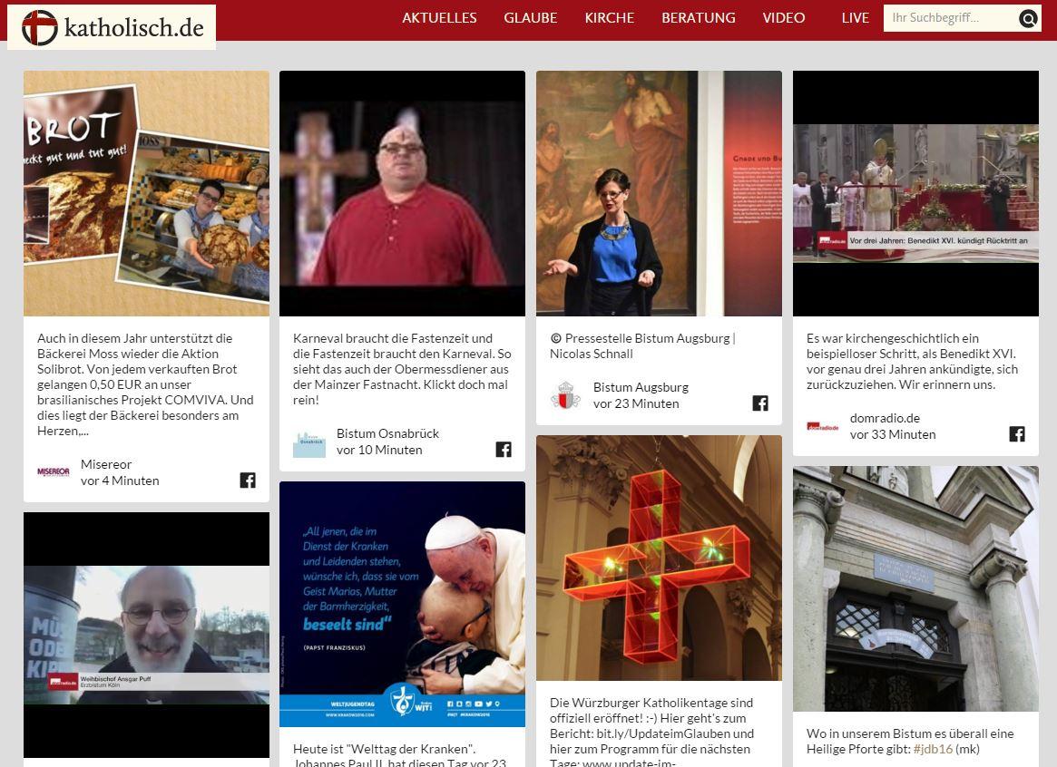 Screenshot katholisch.de