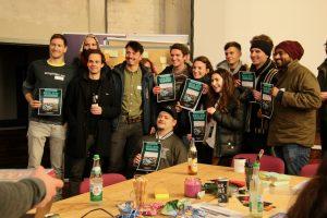 Social Hackathon Bamberg: Gruppenbild mit Urkunden