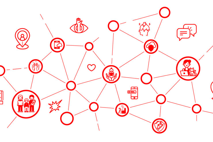 Ein Netzwerk von Menschen und Geräten